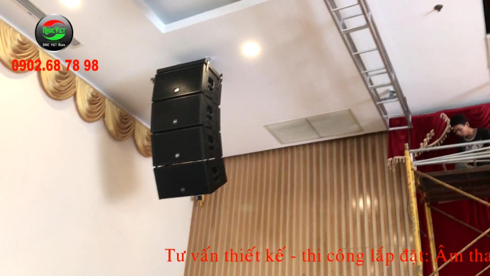 Tư vấn thiết kế thi công lắp đặt âm thanh ánh sáng cho nhà hàng tiệc cưới 0902.687898