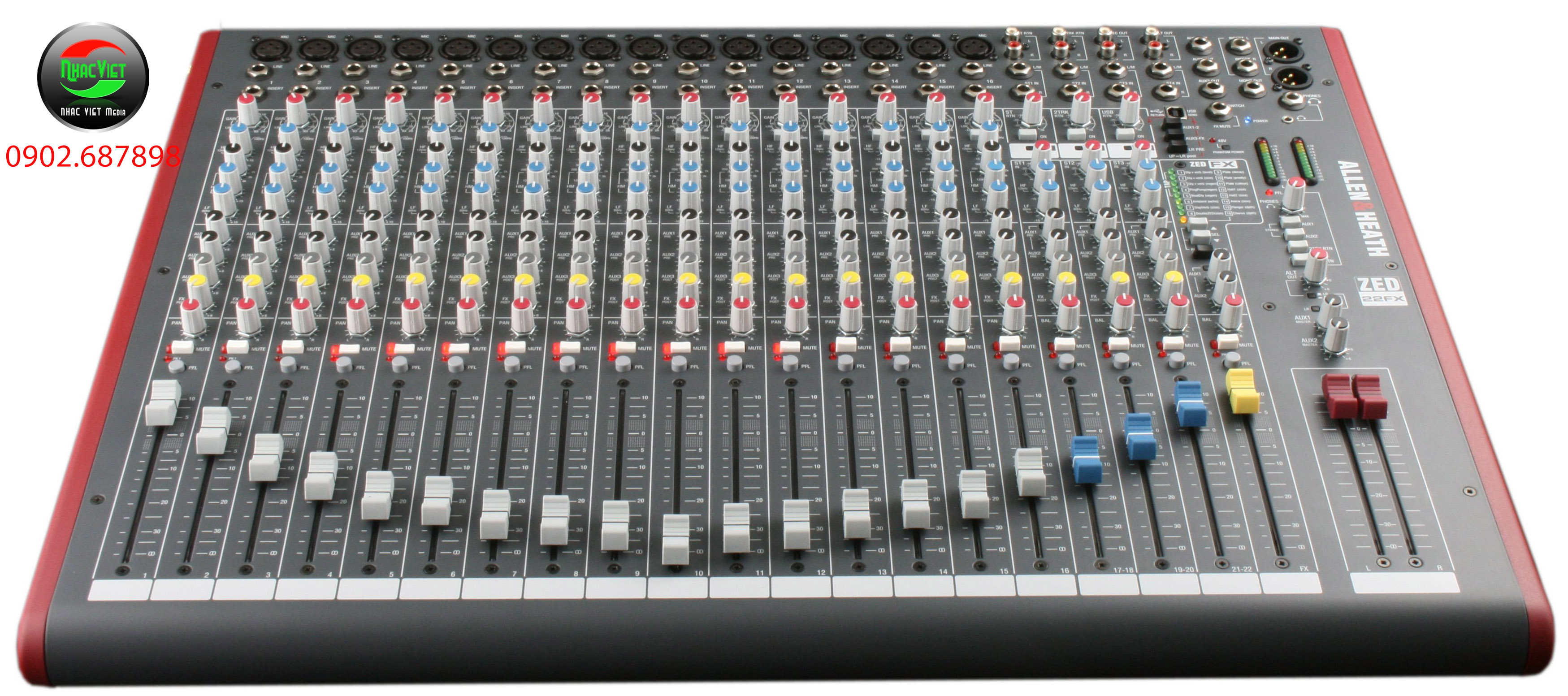 Bàn mixer Allen & Heath ZED - 22FX